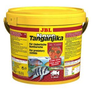 JBL NovoTanganjika - Основной корм в форме хлопьев для хищных цихлид, 5500 мл (950 г)