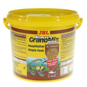 JBL NovoGranoMix mini - Основной корм в форме гранул для небольших пресноводных аквариумных рыб, 5500 мл (2400 г)