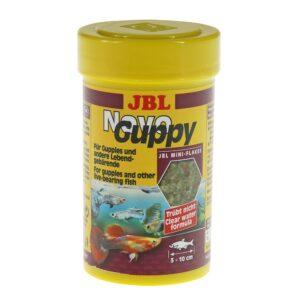 JBL NovoGuppy - Основной корм в форме хлопьев для живородящих аквариумных рыб, 100 мл (17 г)
