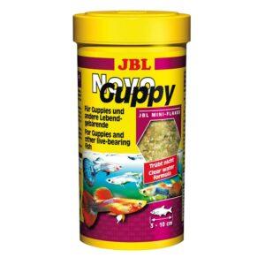 JBL NovoGuppy - Основной корм в форме хлопьев для живородящих аквариумных рыб, 250 мл (45 г)