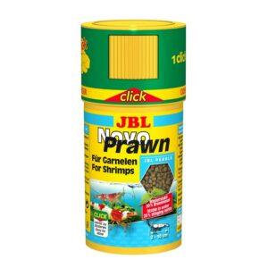 JBL NovoPrawn CLICK - Основной корм в форме гранул для креветок, в банке с дозатором, 100 мл (58 г)