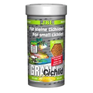 JBL GranaCichlid - Основной корм премиум-класса в форме гранул для хищных цихлид, 250 мл (110 г)