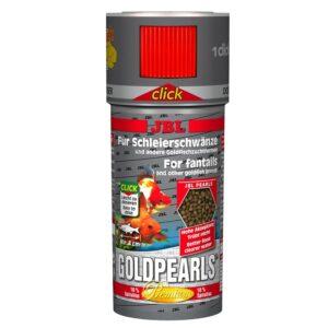 JBL GoldPearls CLICK - Основной корм премиум-класса в форме гранул для золотых рыбок, в банке с дозатором, 250 мл (145 г)