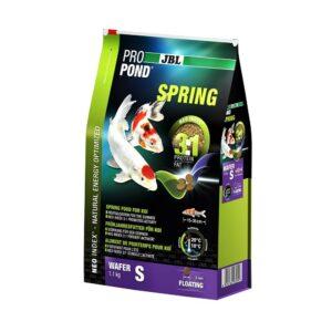 JBL ProPond Spring S - Основной весенний корм в форме плавающих чипсов для карпов кои небольшого размера, 1,1 кг (3 л)