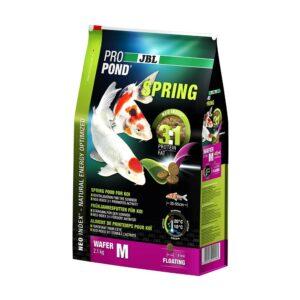 JBL ProPond Spring M - Основной весенний корм в форме плавающих чипсов для карпов кои среднего размера, 2,1 кг (6 л)