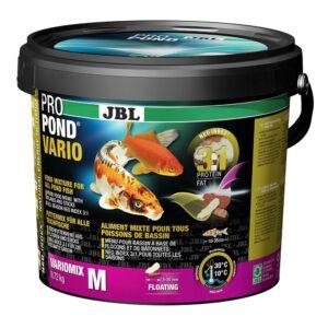 JBL ProPond Vario M - Основной корм в форме плавающих палочек и хлопьев для прудовых рыб среднего размера, 0,72 кг (5,5 л)