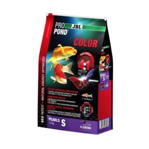 JBL ProPond Color S - Корм в форме плавающих гранул для улучшения окраски карпов кои небольшого размера, 1,3 кг (3 л)