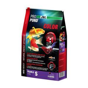 JBL ProPond Color S - Корм в форме плавающих гранул для улучшения окраски карпов кои небольшого размера, 2,5 кг (6 л)