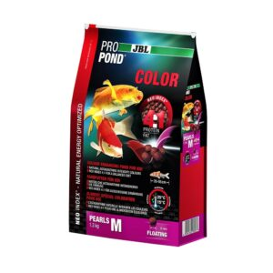 JBL ProPond Color M - Корм в форме плавающих гранул для улучшения окраски карпов кои среднего размера, 1,3 кг (3 л)