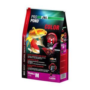 JBL ProPond Color M - Корм в форме плавающих гранул для улучшения окраски карпов кои среднего размера, 2,5 кг (6 л)
