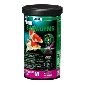"""JBL ProPond Silkworms M - Лакомство для карпов кои среднего размера """"Шелкопряды"""", 0,34 кг (1 л)"""