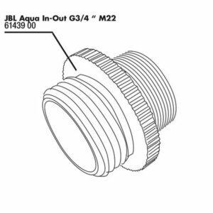 JBL Aqua In-Out Metal Adapter G3/4 M28/M22 - Металлический переходник М28/М22