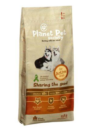Planet Pet Chicken & Rice For Active Dogs сухой корм для активных собак с курицей и рисом - 15 кг