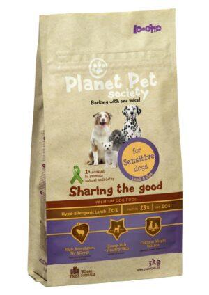 Planet Pet Lamb & Rice For Sensitive Dogs сухой корм для собак с чувствительным пищеварением с ягненком и рисом - 3 кг