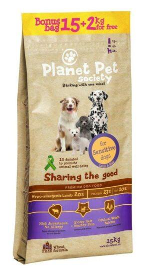 Planet Pet Lamb & Rice For Sensitive Dogs сухой корм для собак с чувствительным пищеварением с ягненком и рисом - Бонус мешок 15 + 2 кг