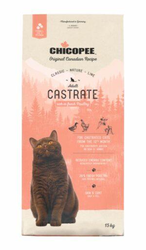 Chicopee CNL Cat Castrate Poultry сухой корм для стерилизованных кошек с мясом птицы - 15 кг