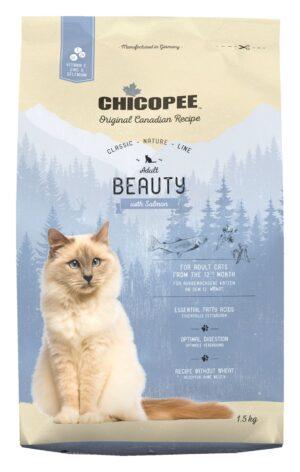Chicopee CNL Cat Adult Beauty сухой корм для взрослых кошек с лососем - 1,5 кг