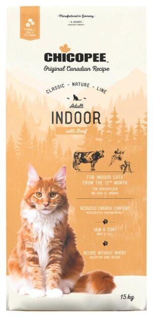 Chicopee CNL Cat Adult Indoor сухой корм для домашних кошек с говядиной - 15 кг