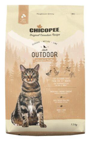 Chicopee CNL Cat Adult Outdoor сухой корм для кошек, бывающих на улице, с птицей - 1,5 кг