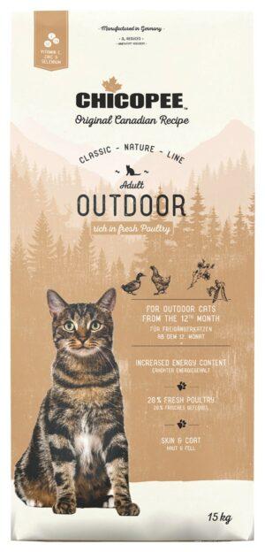 Chicopee CNL Cat Adult Outdoor сухой корм для кошек, бывающих на улице, с птицей