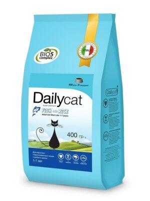 Dailycat Adult Steri Lite Fish & Rice для взрослых кастрированных и стерилизованных кошек с рыбой и рисом - 400 г