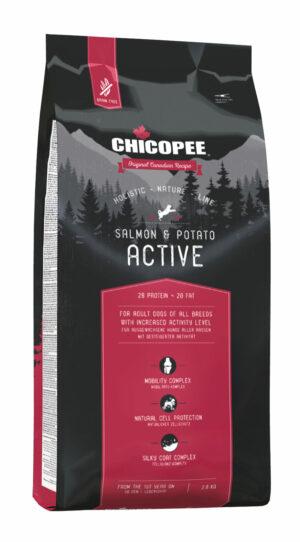 Chicopee HNL Active Salmon & Potato корм для активных собак всех пород с мясом лосося и картофелем - 2 кг