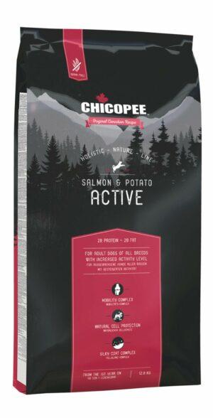 Chicopee HNL Active Salmon & Potato корм для активных собак всех пород с мясом лосося и картофелем