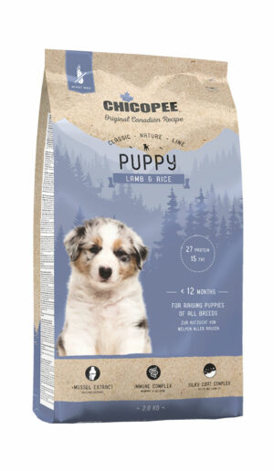 Chicopee CNL Puppy Lamb & Rice сухой корм для щенков всех пород с ягненком и рисом - 2 кг