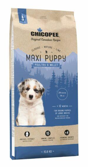 Chicopee CNL Maxi Puppy Poultry & Millet сухой корм для щенков крупных пород с птицей и просом