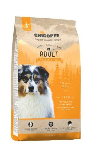 Chicopee CNL Adult Chicken & Rice сухой корм для взрослых собак всех пород с курицей и рисом - 2 кг