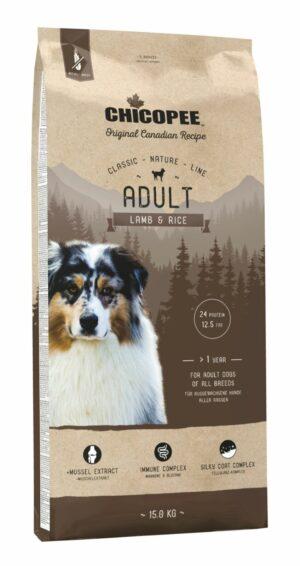 Chicopee CNL Adult Lamb & Rice сухой корм для взрослых собак всех пород с ягненком и рисом