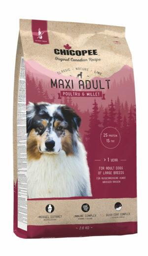Chicopee CNL Maxi Adult Poultry & Millet корм для взрослых собак крупных пород с птицей и просом - 2 кг