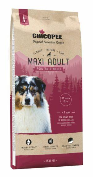 Chicopee CNL Maxi Adult Poultry & Millet корм для взрослых собак крупных пород с птицей и просом