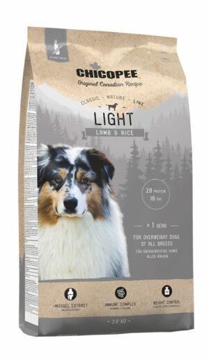 Chicopee CNL Light Lamb & Rice сухой облегченный корм для взрослых собак всех пород с ягненком и рисом - 2 кг
