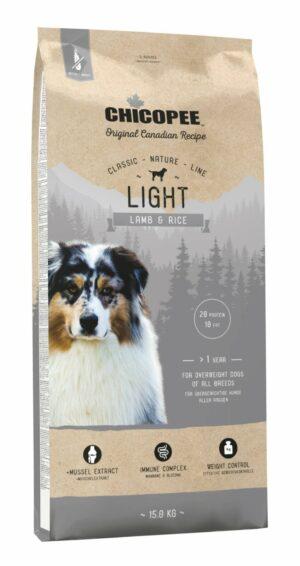 Chicopee CNL Light Lamb & Rice сухой облегченный корм для взрослых собак всех пород с ягненком и рисом
