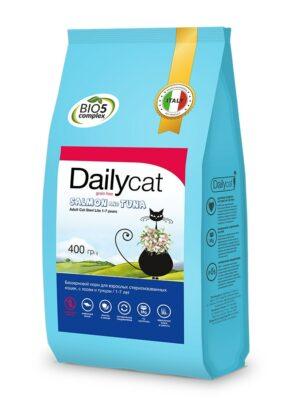 Dailycat Grain Free Adult Steri lite сухой беззерновой корм для стерилизованных кошек с лососем и тунцом - 400 г
