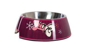 Rogz Bubble миска для собак с корпусом из пластика вынимаемая, размер Medium, темно-розовая - 400 мл