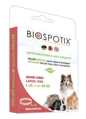 Biospotix Large dog collar ошейник от блох и клещей для собак крупных и гигантских пород 75 см