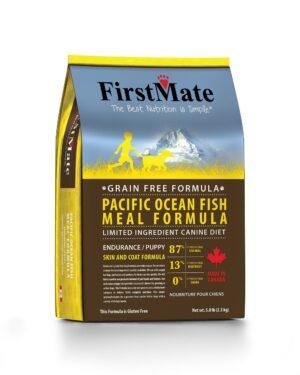 FirstMate Pacific Ocean Fish Meal Endurance/Puppy сухой беззерновой корм для щенков и взрослых собак с высокой активностью с рыбой - 2,3 кг