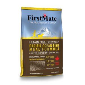 FirstMate Pacific Ocean Fish Meal Endurance/Puppy сухой беззерновой корм для щенков и взрослых собак с высокой активностью с рыбой