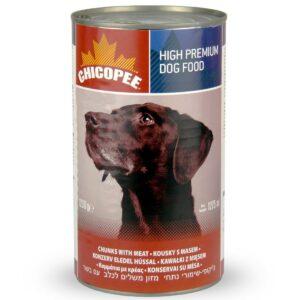 Chicopee Dog Chunks Meat консервы для собак всех пород и возрастов с кусочками говядины в соусе - 1,23 кг