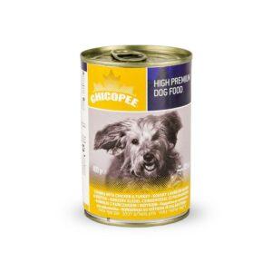 Chicopee Dog Chunks Chicken Turkey консервы для собак всех пород и возрастов с кусочками курицы и индейки в соусе - 400 г
