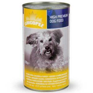 Chicopee Dog Chunks Chicken Turkey консервы для собак всех пород и возрастов с кусочками курицы и индейки в соусе - 1,23 кг