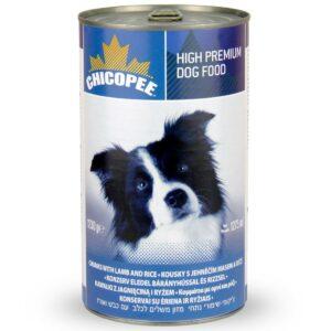 Chicopee Dog Chunks Lamb Rice консервы для собак всех пород и возрастов с кусочками ягненка и рисом в соусе - 1,23 кг