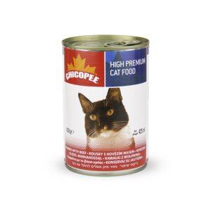 Chicopee Cat Chunks Beef консервы для кошек всех возрастов с кусочками говядины в соусе - 400 г