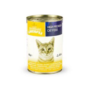 Chicopee Cat Chunks Chicken консервы для кошек всех возрастов с кусочками курицы в соусе - 400 г