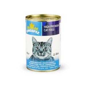 Chicopee Cat Chunks Fish консервы для кошек всех возрастов с кусочками рыбы в соусе - 400 г