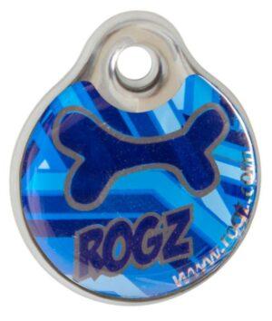 Рогз адресник пластиковый готовый к пользованию, синий / Rogz ID Tag Small Navy Zen S, 27 мм