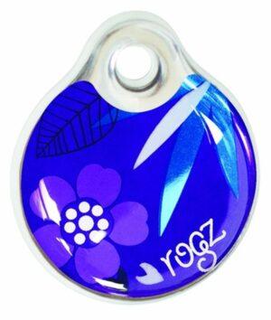 Rogz ID Tag Small Purple Forest S адресник пластиковый готовый к пользованию, фиолетовый, 27 мм