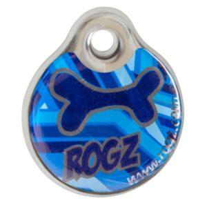 Рогз адресник пластиковый готовый к пользованию, синий / Rogz ID Tag Large Navy Zen L, 34 мм